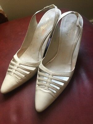Stunning Stitched Vintage Leather Parker Coronal New York Heels Shoes