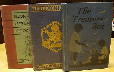 """Vintage"" ""Rare"" Antique Collectible Hard To Find Children School Books Lot of 3"
