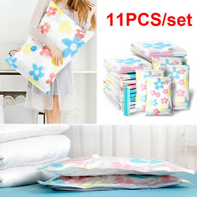 10PCS Vacuum Storage Bags Saver Seal Compressing Medium Large Jumbo Supersize AU