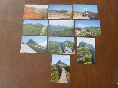 Lot Of 10 Great Wall Of China Scenic Views Folder Vintage  Postcards 1970/1980