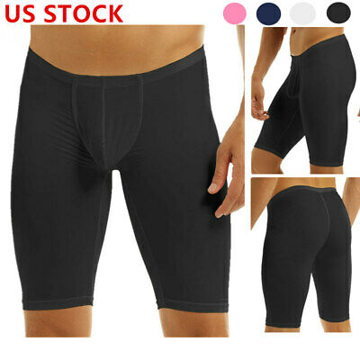 Men's Quick Dry Compression Swim Square Leg Trunks Speed Shorts Jammer Swimsuit