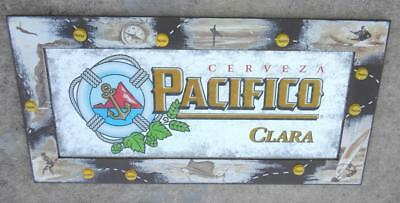 Pacifico Clara Beer Mirror Surfing Sailing Diving 36x18 Bar Wall PICK UP ONLY