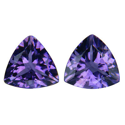 3.90  Cts Oval Natural pair Amethyst  Loose Gemstone.