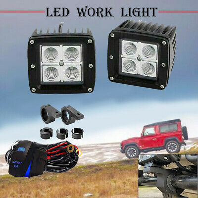3'' LED Light with Universal Mount Bracket Kit Offroad  Reverse For Jeep Ford