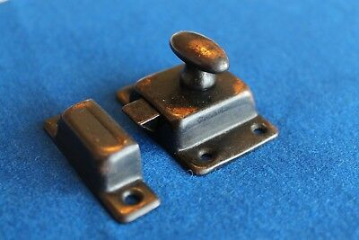 Vintage 1930s-1940s Copper Flashed Cabinet/Cupboard Latch with Catch (japanned)