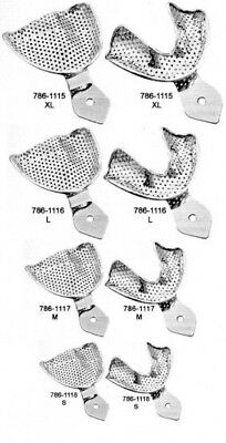 Dental Surgical Stainless Steel filing Clinical Set of Dental Impression Trays