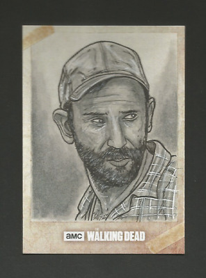 "2018 Walking Dead Road To Alexandria ""jim"" ""1/1-Sketch-Autograph By Artist-"""