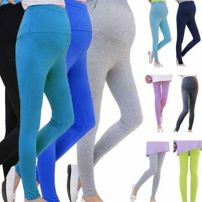 Hot Women Candy Color Pregnant Leggings Pants Soft High Elasticity Lady Trousers