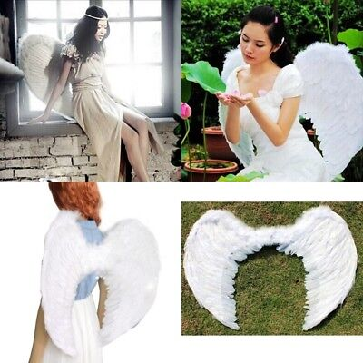Large Black White Feather Angel Wings Kids Adult Fairy Angel Wings Fancy Costume