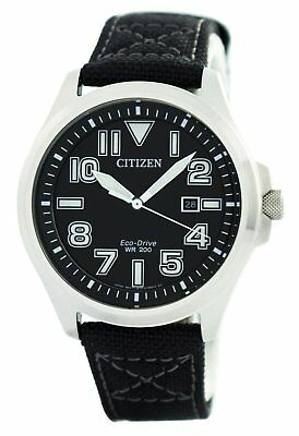 Citizen Eco-Drive Military 200M AW1410-24E Mens Watch