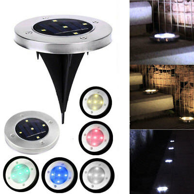 Solar Powered Outdoor Garden Path Lighting 5 LED Yard Lawn Road Spot Light Lamp