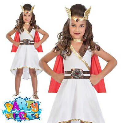 Girls Roman Princess Costume Childs Medieval Fancy Dress Kids Book Week Outfit