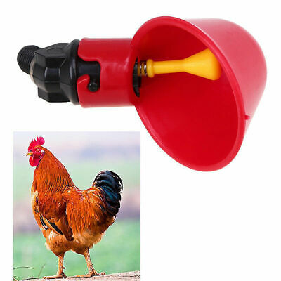 1/2/4/10pcs Bird Coop Feed Automatic Poultry Water Drinking Cup Chicken Drinker