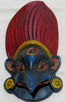 M806 Nepalese Hand Crafted Garuda Wall Hanging Room Decorative WOODEN art MASK