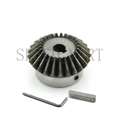 2M 25T Metal Umbrella Tooth Bevel Gear Helical Motor Gear 25 Tooth 24mm Bore