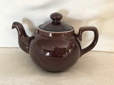 Denby Homestead Teapot. Brown with Blue Interior. Excellent Condition