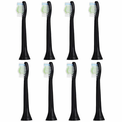 8PC Sonicare DiamondClean Black Toothbrush Head Replacement for Philips AU Stock