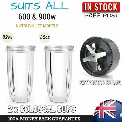 2 x COLOSSAL CUP EXTRACTOR BLADE SUIT ALL NUTRIBULLET 600 900 NUTRI BULLET MODEL