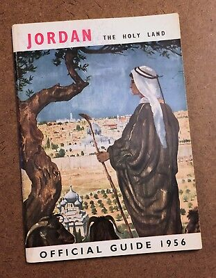 Jordan and The Holy Lands Official Travel Guide 1956 Map Photographs Info