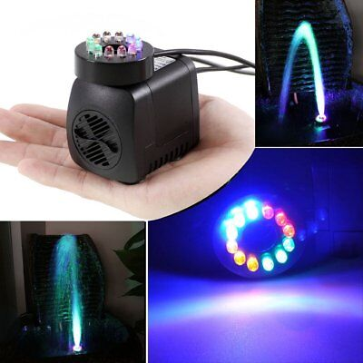 Submersible Water Pump with 12 WsD Lights for Fountain Pool Garden Pond Fis OT