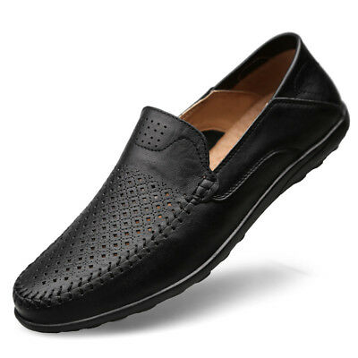 NEW Men's Casual Driving Boat Leather Shoes  Moccasin Slip On Loafers UK SIZE