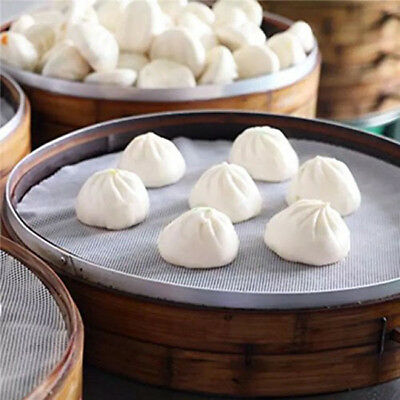 Silicone Steamer Mat Pad Reusable Non-Stick Mesh Round Dumplings one