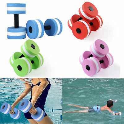 2pc Dumbbell Aquatic Barbell Fitness Exercise Water Pool Weight Aerobics barbell