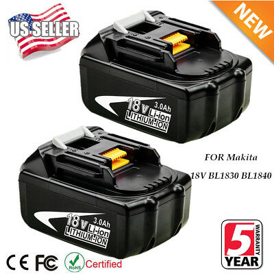 2X NEW 18V 3.0Ah LITHIUM ION BATTERY LXT FOR MAKITA BL1830 BL1860 US LATEST PACK