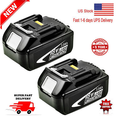 2X For Makita BL1830 BL1840 LXT 18V 3.0Ah Lithium Ion Battery BL1860 BL1845 NEW