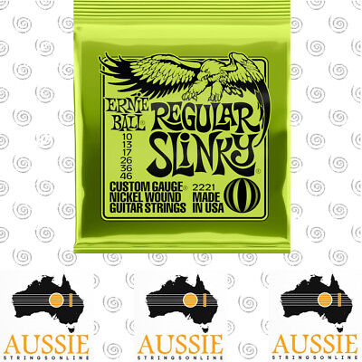 Ernie Ball 2221 Regular Slinky Electric Guitar Strings 10-46 | 1 Set [Brand New]