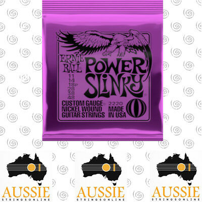 Ernie Ball 2220 Power Slinky Electric Guitar Strings 11-48 | 1 Set [Brand New]