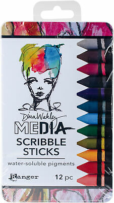 Dina Wakley Media Scribble Sticks 2 12/Pkg-