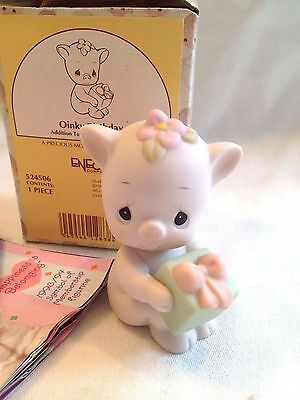 Precious Moments Figurine ~ 524506 ~ Oinky Birthday ~ Pig ~ Birthday Series  MIB