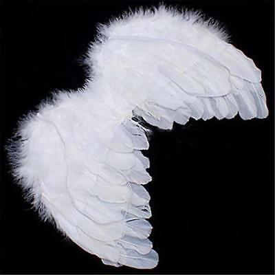 1/5pcs Angel White Feather Wing Christmas Tree Decor Hanging Wedding Ornament^