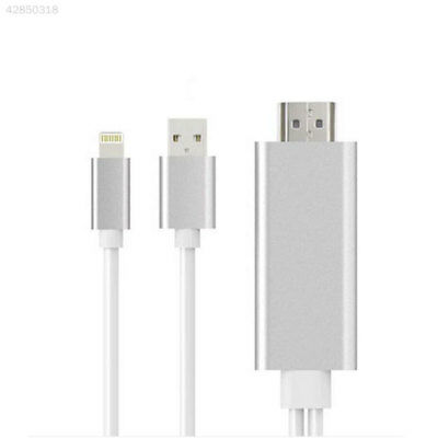 For iPhone/Android Samsung To HDMI TV Digital Adapter Airplay USBCable