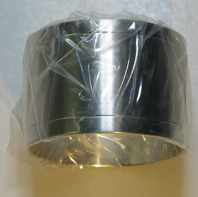 Set of 4 Brushed Pewter Napkin Rings Cylindrical