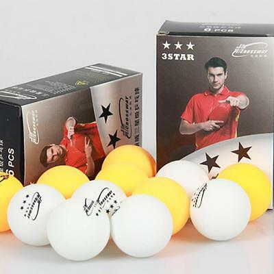 6pcs 3-Star Table Tennis Balls Ping Pong 40mm White Yellow Competition Ball UK