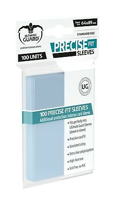 100 pochettes Precise-Fit Sleeves taille standard Transparent Ultimate Guard