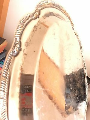 Small Vintage Silver Plated Tray