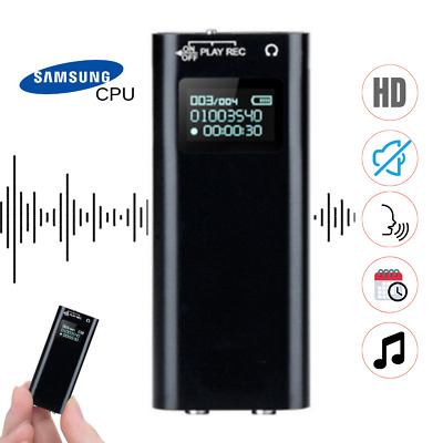 Mini Spy Audio Recorder Voice Activated Listening Device 100 Hours 8 GB Lecture