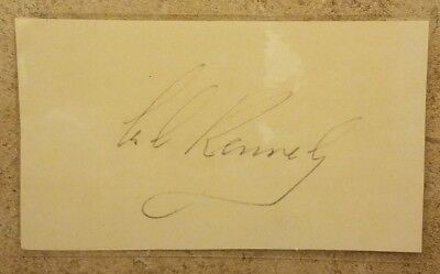 Ted Kennedy Signed Boarding Pass, Clean but Laminated Autograph