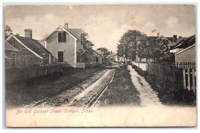 Early 1900s Old Sconset Street, Sconset, MA postcard