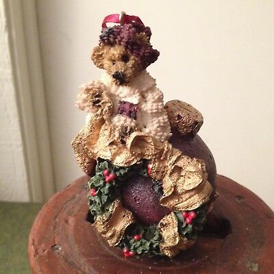 Boyds Bear Resin Christmas Ornament Edmund...deck The Halls 1996 New 17E