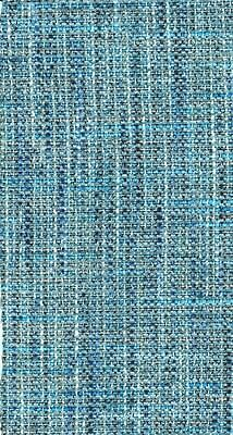 Designer - ' Boucle Weave Blue Mix ' Upholstery Heavy Fabric £5.99 Per Metre.