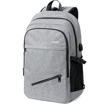 Laptop Computer Backpacks Fits 15 15.6 inch Water Repellent USB Charging Port US