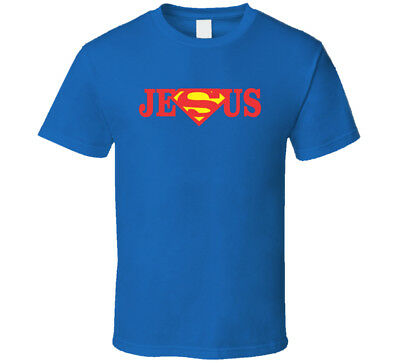 Super Man Jesus Christ Christian T Shirt Mens Tee Many Colors Gift New From US