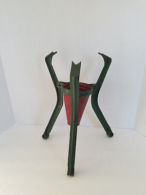 Vintage Dover Stamping Mfg Co Cast Iron Christmas Tree Stand with Vase