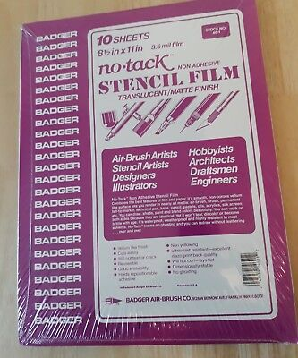 "Art Supplies - Stencil Film 81/2"" x 11"" - 10 Sheets - 46-1 - Badger"