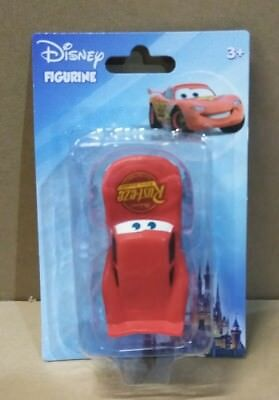 Disney Pixar Lightening McQueen from Cars Figure Cake Topper Blue Card