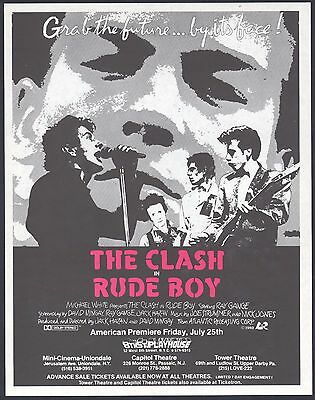 RARE THE CLASH Vintage Paper Movie Flyer \